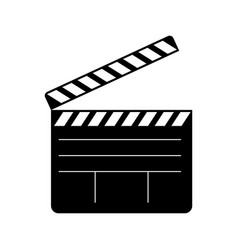 open clapperboard icon vector image