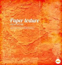 Orange paper textured background vector