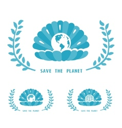 Save The Planet Symbol vector image vector image