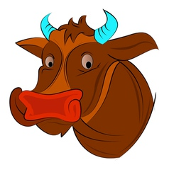 cow face vector image
