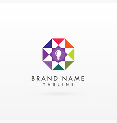 logo design concept for light bulb vector image