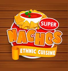 Nachos ethnic cuisine logo vector