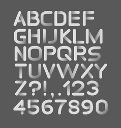 Paper white strict alphabet rounded Isolated on vector image vector image