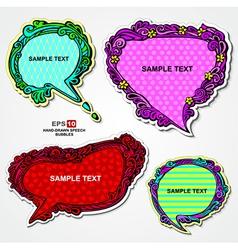 Retro style multicolored speech bubbles vector image vector image