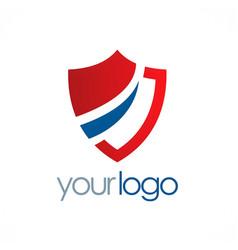 Shield protection logo vector