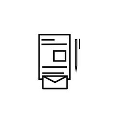 stationery icon vector image