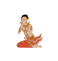 thai traditional painting vector image vector image