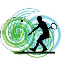 woman playing tennis vector image vector image