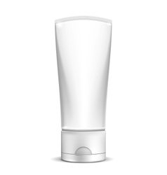 Blank white cream tube or cosmetic bottle vector image vector image