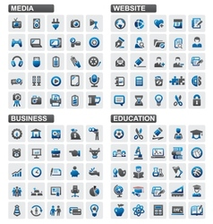 Business education website media vector image vector image