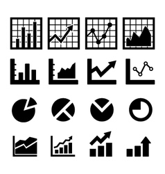 Chart and Diagram Icon vector image vector image