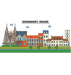 france rouen normandy city skyline architecture vector image