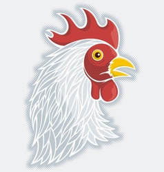 rooster head gray vector image