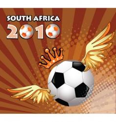 soccer ball winner vector image vector image