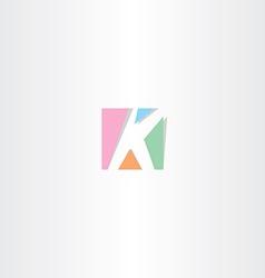 square letter k logo k icon design vector image vector image