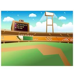 Baseball field background vector