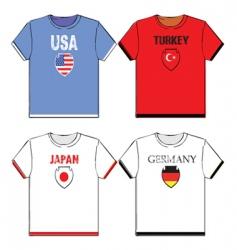 football t-shirts vector image