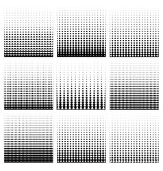 Seamless monochrome pattern set vector image vector image