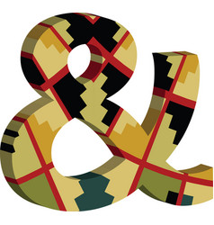 3d ampersand symbol vector