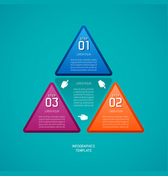 Abstract 3 steps infographic template in flat vector