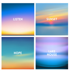 Abstract blurred background beautiful sunrise or vector