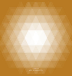 abstract light brown triangle background vector image vector image