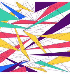 Abstract modern colorful lines triangle vector