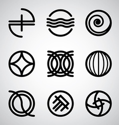 Abstract symbols set vector