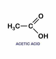 Acetic acid formula vector