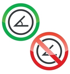 Angle permission signs vector