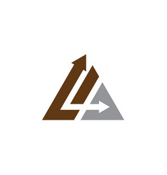 arrow triangle logo vector image