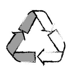 arrows recycle symbol icon vector image
