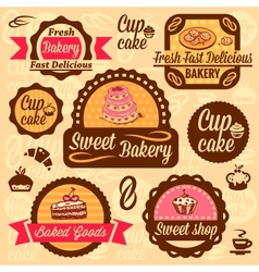 bakery goods labels vector image