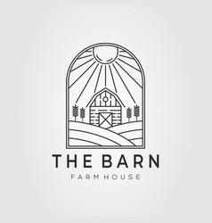 Barn logo farm house farming wheat field logo vector