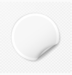 blank round sticker with curled corners vector image