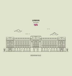 buckingham palace in london vector image
