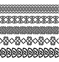 celtic knot set vector image