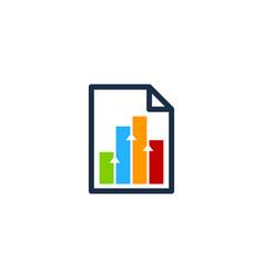 chart document logo icon design vector image