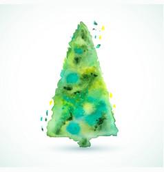 christmas color tree holiday card season vector image
