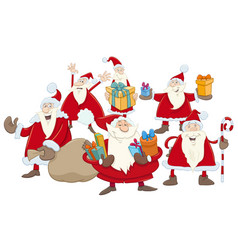 Christmas santa claus group vector