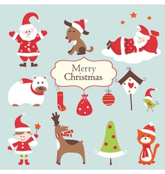 Christmas set 2 vector image