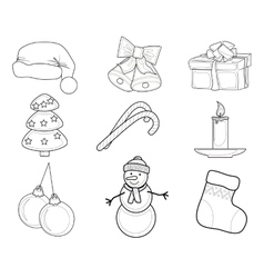 Christmas Set of characters vector image