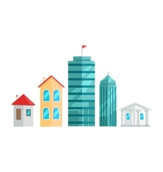 City Buildings In Flat Design vector image