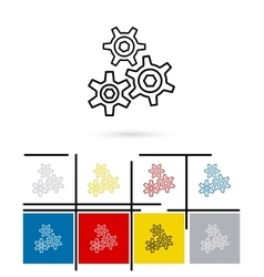 Cogs gears icon vector image