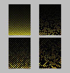color circle pattern brochure template set vector image