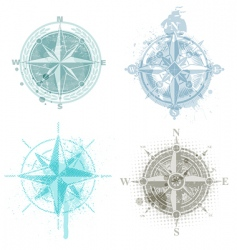 Compass roses vector