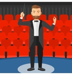 Conductor directing with baton vector