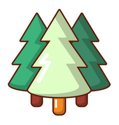 coniferous forest icon cartoon style vector image