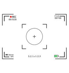 creative of camera viewfinder vector image