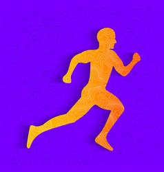 creative of running man vector image